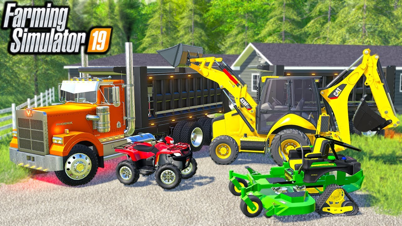 WE BOUGHT $200,000 IN NEW LANDSCAPING EQUIPMENT   (ROLEPLAY) FARMING SIMULATOR 2019