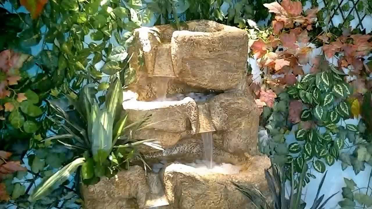 Cascata de jardim vertical youtube for Como criar caracoles de jardin