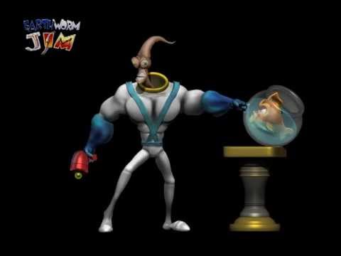 Earthworm Jim Vs Bob The Killer Goldfish - 3d Mesh