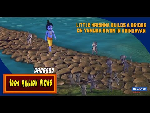 Little Krishna builds a Bridge on Yamuna river in Vrindavan | Clip