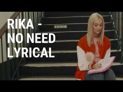 Rika - No need lyrics