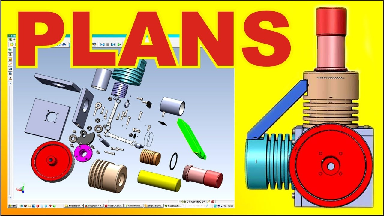 Stirling engine plans homemade hot air ltd lamina flow thermoacoustic engine for Stirling engine plans design blueprints