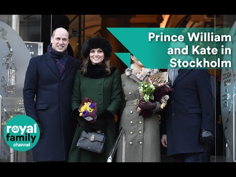 Prince William and Kate greet well-wishers in Stockholm