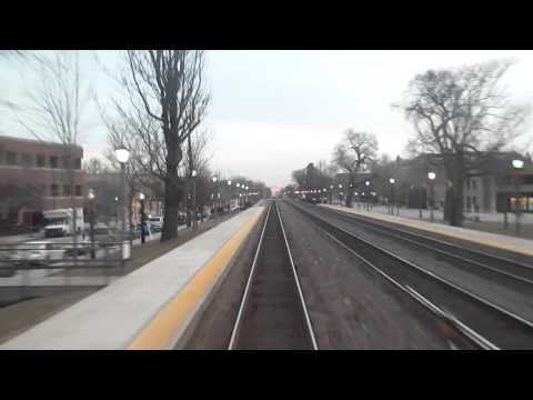 METRA BNSF Aurora Line: Cicero to Downers Grove Rear View EXPRESS