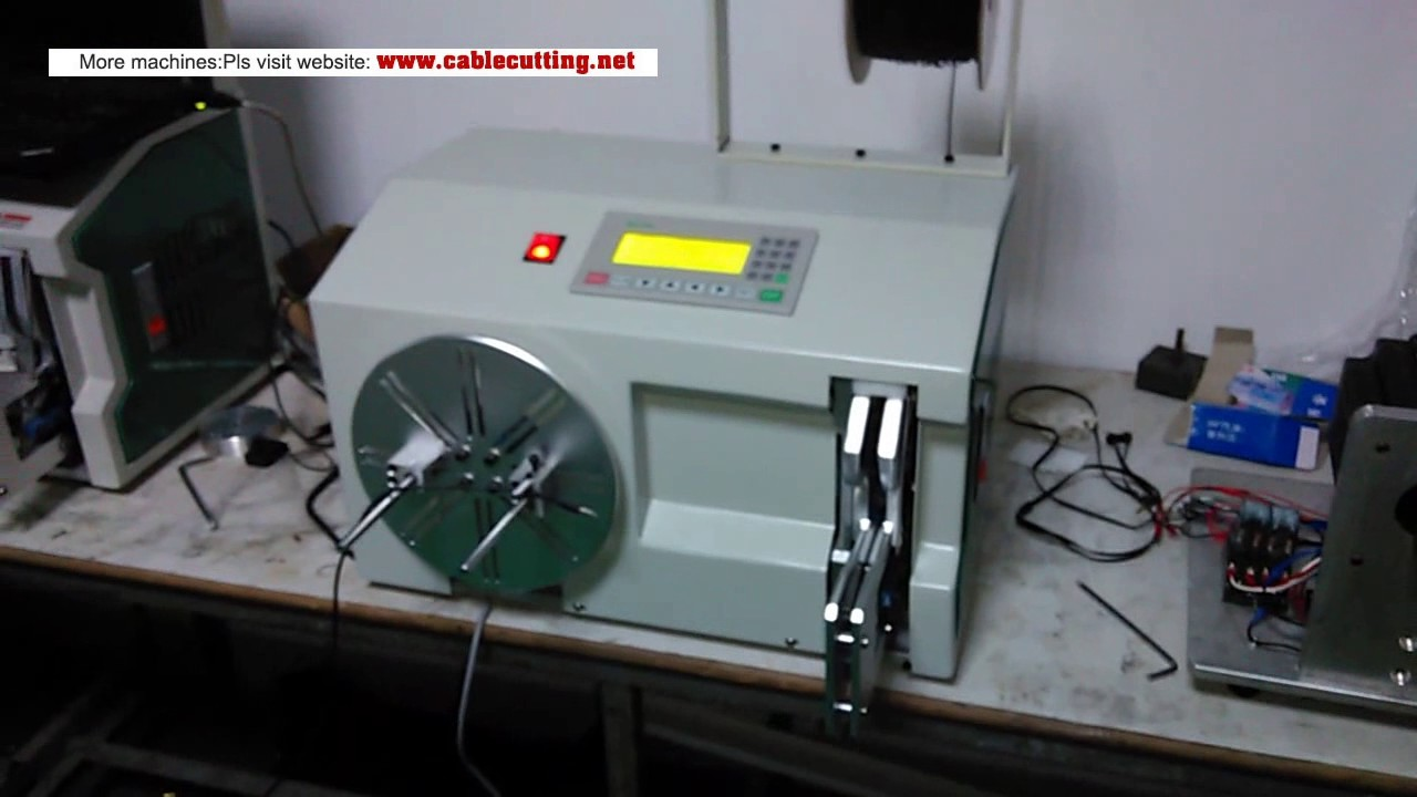wire spooling and bundle machine - YouTube