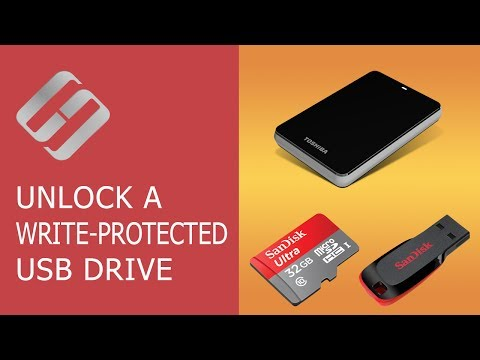 How to Unlock a Write Protected USB Drive, a SD or Micro SD Memory Card or a Hard Drive 👨‍💻🛠️🖥️
