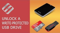 How to Unlock a Write Protected USB Drive, a SD or Micro SD Memory Card or a Hard Drive ?‍??️?️
