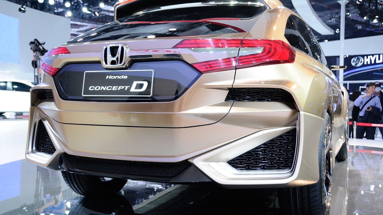 2017 Honda UR-V based on Concept D - YouTube