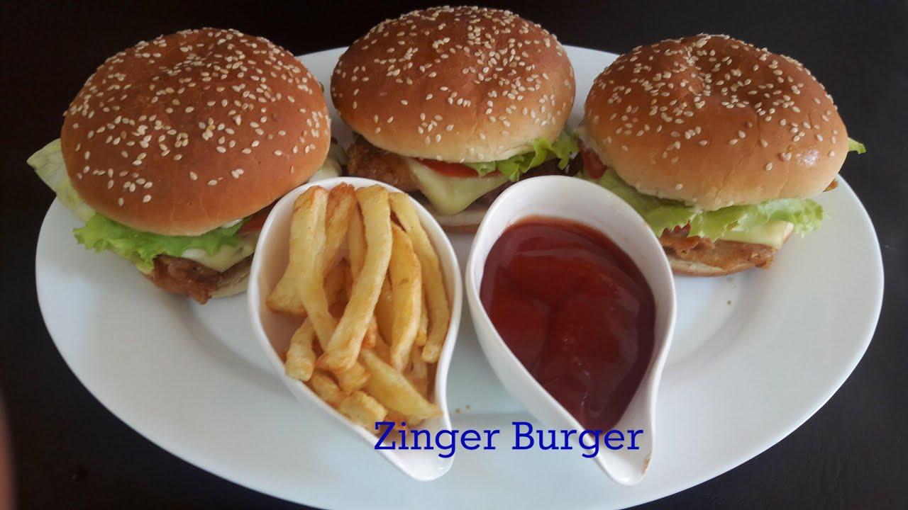 Tasty Zinger Burger Recipe | KFC Style | How to Make ...