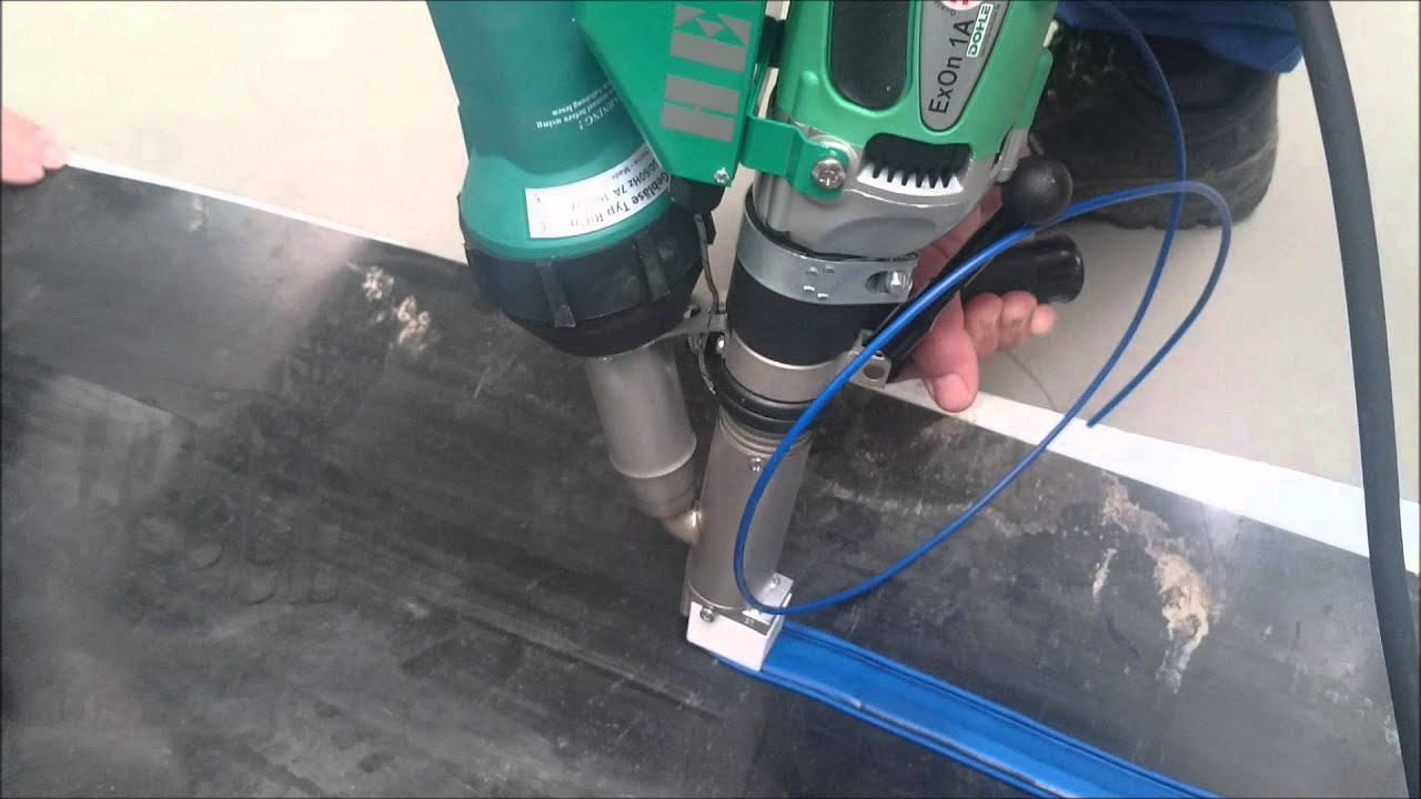 Geomembrane Welding With Exon 1a Extruder Youtube