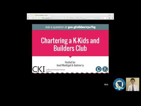 Kiwanis Family & Foundation Webinar: How to Charter a K-Kids and Builders Club