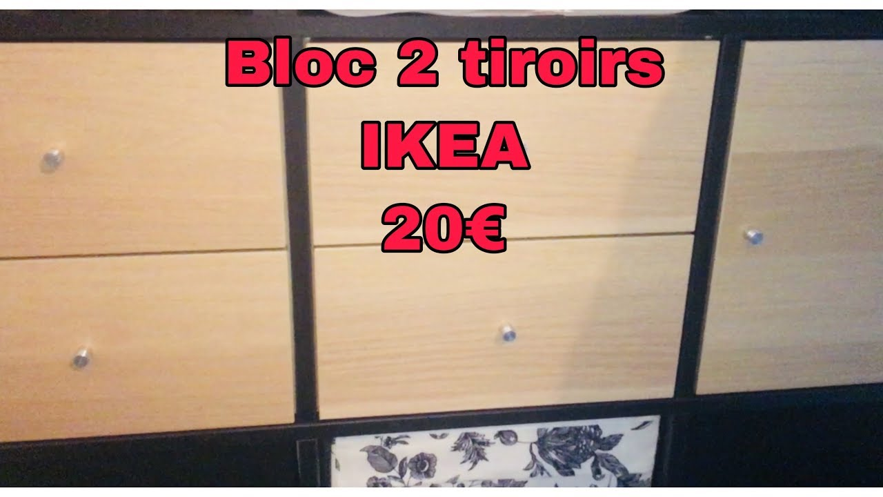 Montage Le Bloc 2 Tiroirs Ikea Kallax Youtube