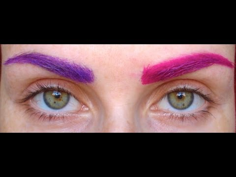 How to Colour Eyebrows ^_^ ..... (even on thick dark brows) - YouTube