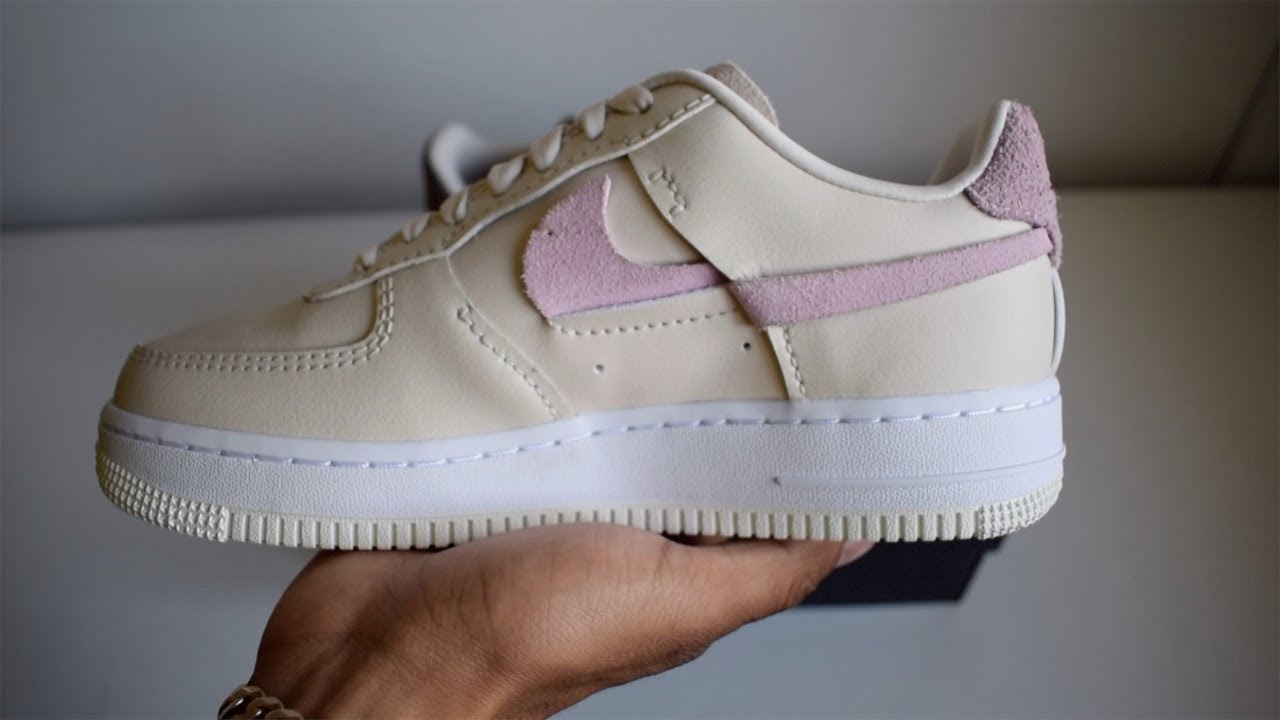 Nike Air Force 1 Inside Out Beige / Pink Unboxing