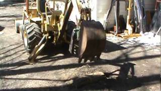 homemade backhoe thumb on a terramite tractor