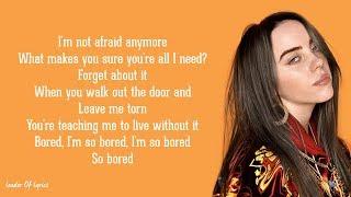 Billie Eilish - BORED (Lyrics)