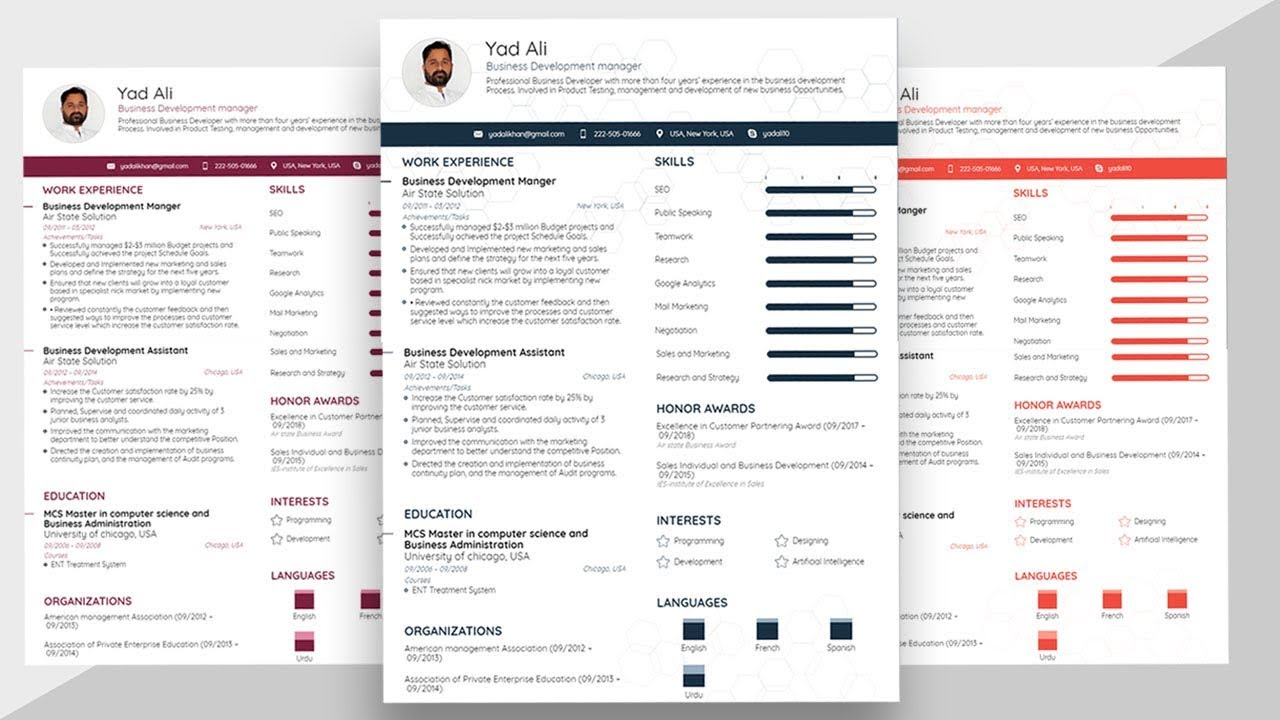 How To Make A Basic And Simple Resume Template With Microsoft Word 2019 Latest Youtube