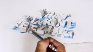 That sinking feeling.... pencil rendering / 3D Typography