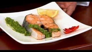 Соус чимичурри и стейк из лосося - Уриэль Штерн