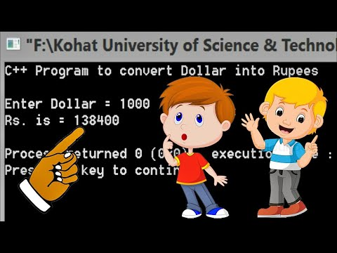 C++ Programming | Convert Dollar (USD) Into Rupees (PKR) | Codeblocks 100% Working