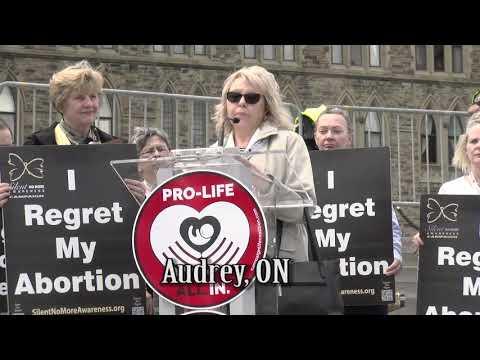 Audrey's 2018 March for Life Ottawa Testimony