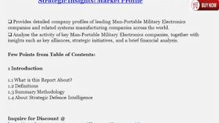 Man-Portable Military Electronics Industry 2014 -- Worldwide Analysis