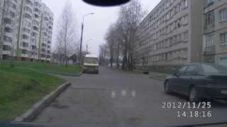 Гомель Песина ул.,Семейка психанутых на дороге