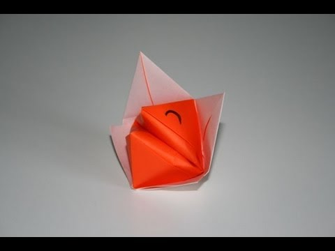 origami renard parlant talkative fox senbazuru youtube. Black Bedroom Furniture Sets. Home Design Ideas