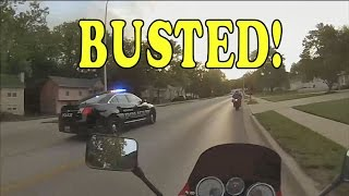 GSXR 750 Runs From Police - DIP TIME!