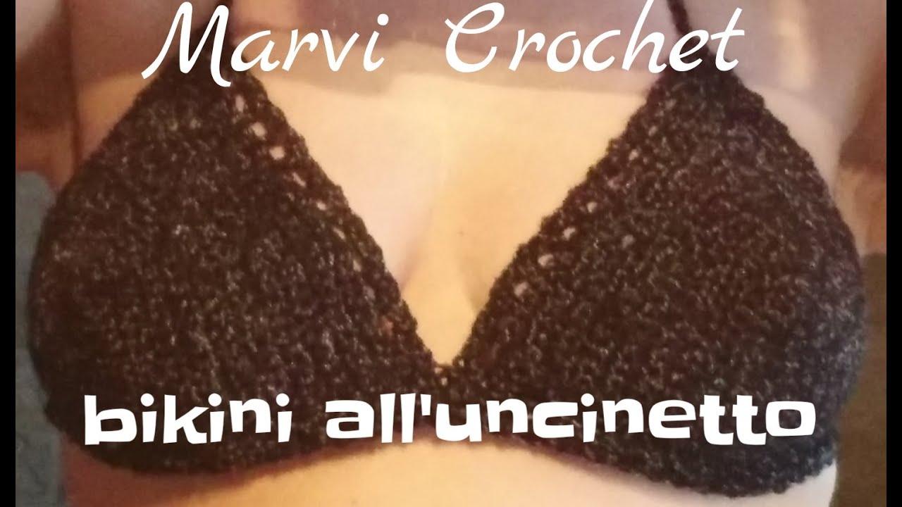 Tutorial Bikini Alluncinetto Crochet Bikini Top Youtube