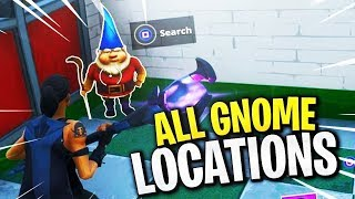 ¡TODAS LAS 7 UBICACIONES DE GNOMOS! [Fortnite: Battle Royale Week 8 Challenges]