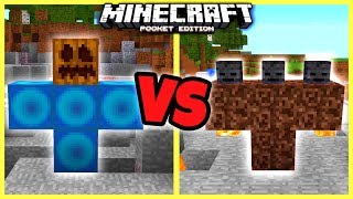 GIANT GUARDIAN VS WITHER in Minecraft Pocket Edition! [MCPE 1.1]