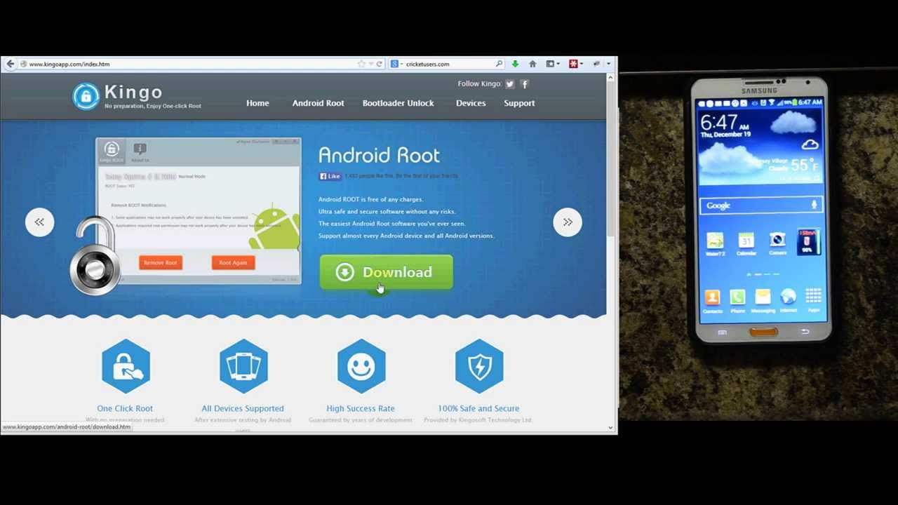 Root AT&T Samsung Galaxy Note 3 - Kingo Root Demonstration