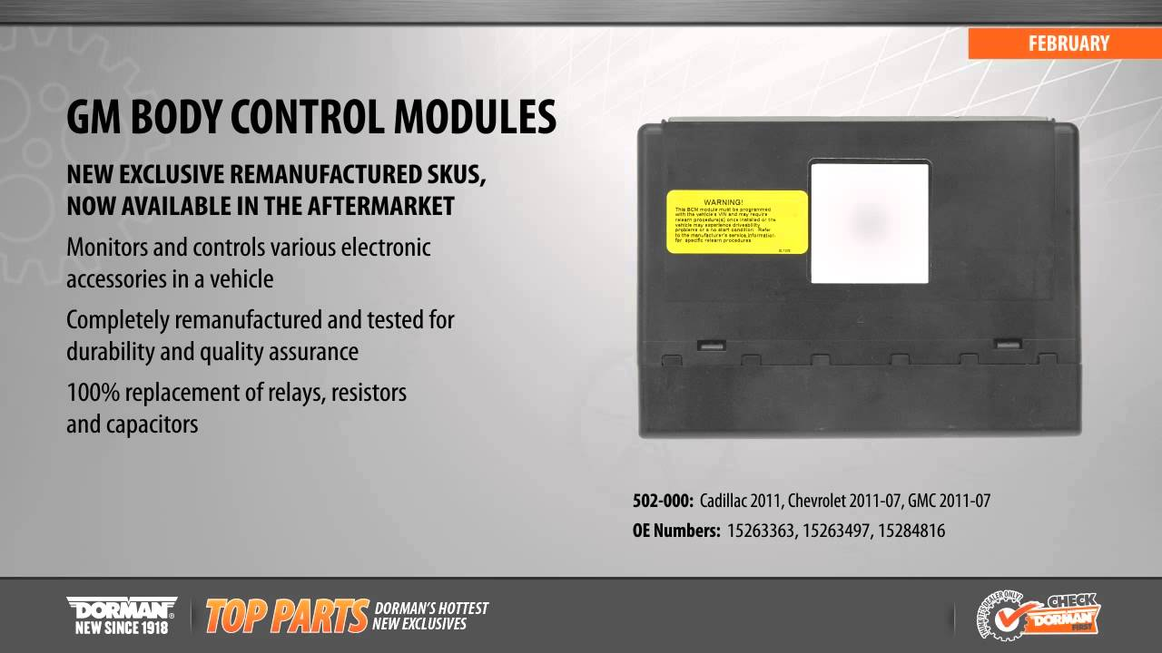 hight resolution of highlighted part body control module for select cadillac chevy gm models youtube
