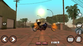 GHOST RIDER MOD FOR GTA SA ANDROID SKIN + BIKE ONLY 2 MB IMPORT