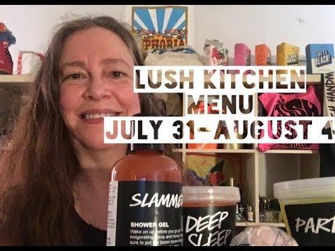 Lush Kitchen Menu July 31-August 4 - YouTube