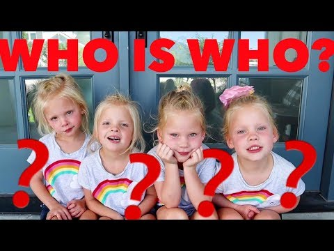 How To Tell IDENTICAL TWINS/QUADRUPLETS Apart��������WHOS WHO