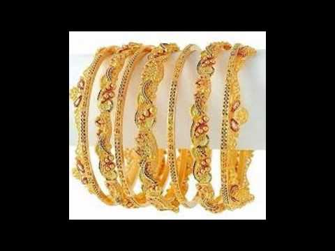 Gold Bangles Designs With Price - YouTube