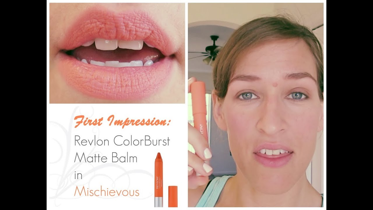 First Impression Revlon Colorburst Matte Balm In Mischievous Collorbust Youtube