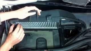 BMW 5. E60/61. Замена салонного фильтра. Cabi Air filter change. Pollenfilter wechsel