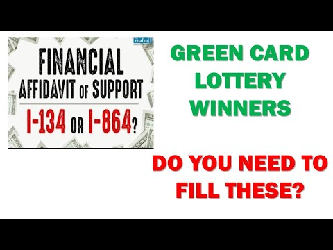 GREEN CARD (PERMANENT RESIDENCE) IN USA: Do You Need Affidavit Of Financial Support I-134 Or I-864?