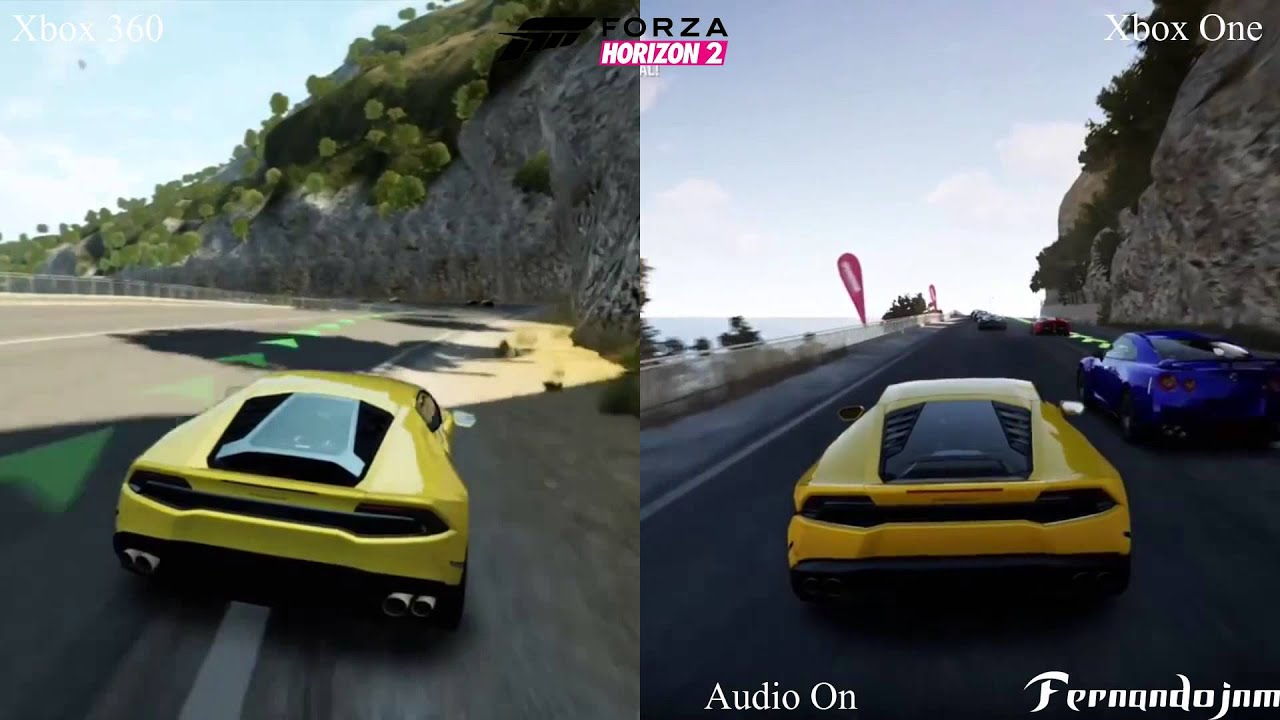 forza horizon 2 xbox one vs xbox 360 compara o de. Black Bedroom Furniture Sets. Home Design Ideas