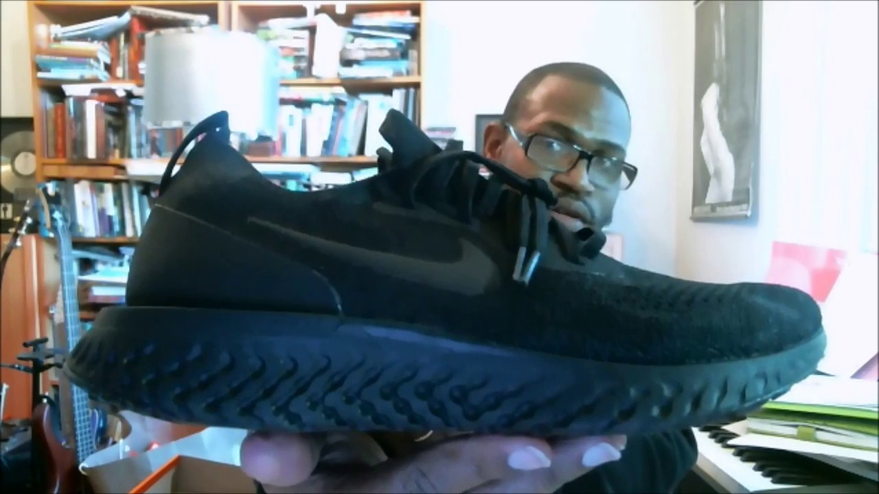 brand new f6bbf ddcd3 Nike Epic React Flyknit Triple Black AQ0067-003 | Authentic Verification