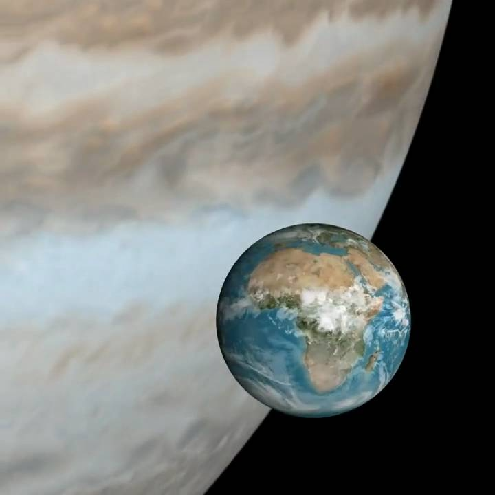 Earth & Jupiter Rotation Rates Compared [HD] - YouTube