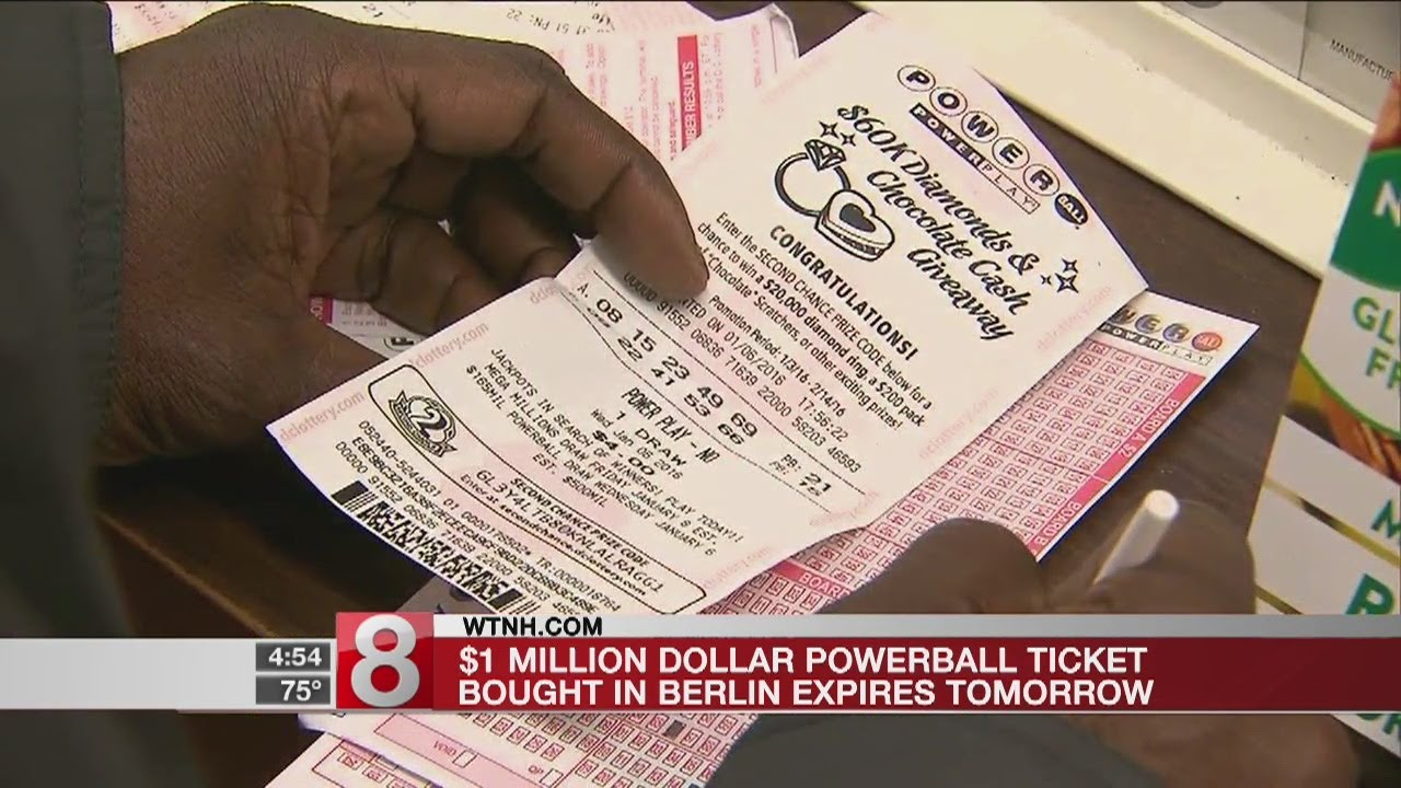 Winning Ct Ticket For Unclaimed 1 Million Powerball Jackpot To