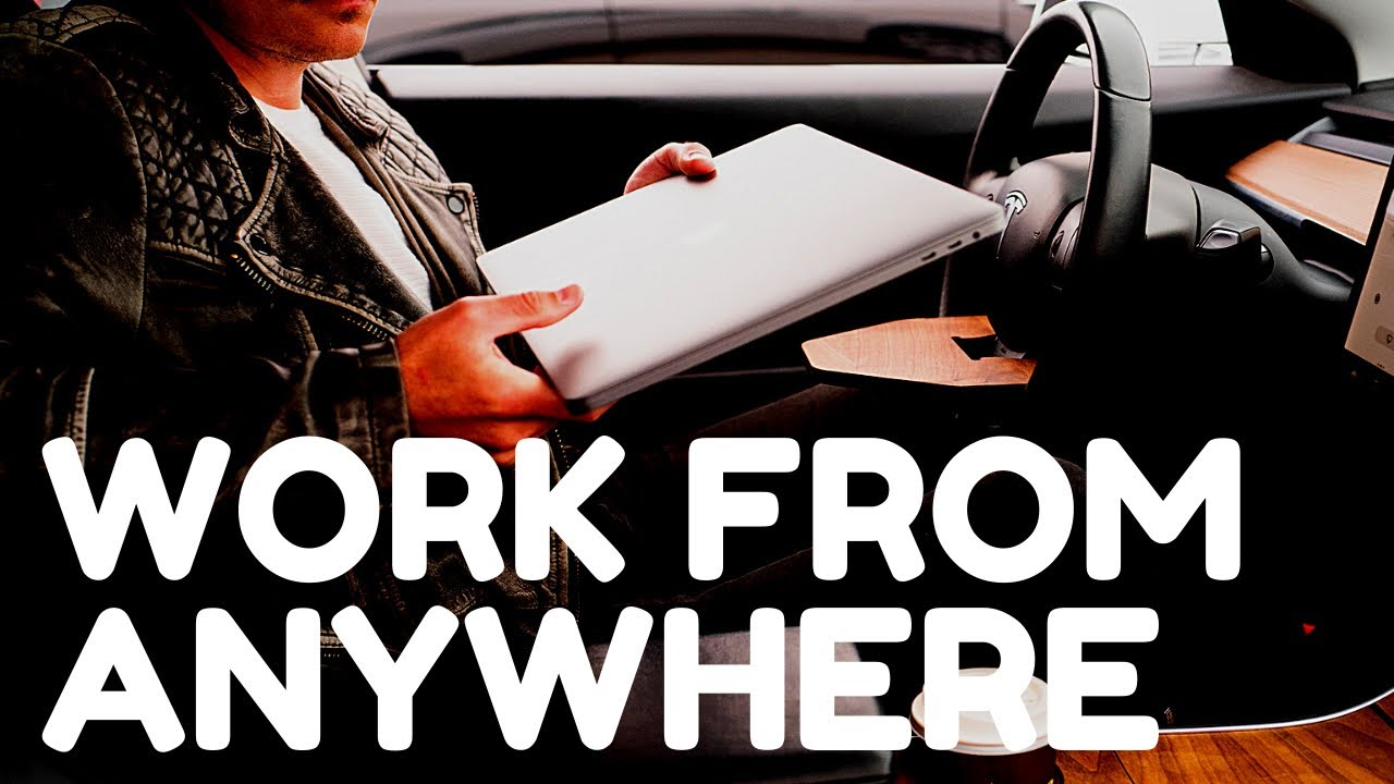 How to work from anywhere in your Tesla Model 3 or Y