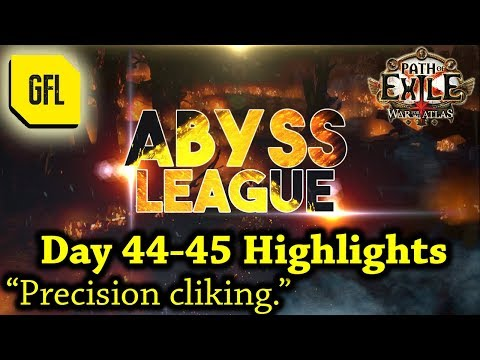 """Path of Exile 3.1: War for the Atlas DAY #44-45 Highlights """"Precision clicking."""""""