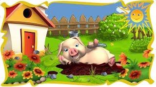 Видео для детей.Детская песенка: Свинка вышла на прогулку.