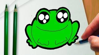 Como desenhar um sapo kawaii