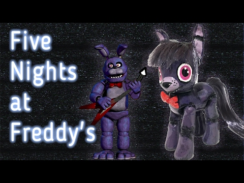 Custom FNAF BONNIE PONY Five Nights At Freddy's MLP Crossover Tutorial